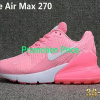 Purchase Nike Air Max 270 KPU Latest Styles Running Shoes Sneakers 2018 Pink White sneaker