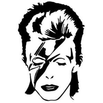 David Bowie Peel & Rub Sticker