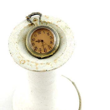 vintage style antiqued brass locket pocket watch by FindingBrooke