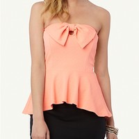 Bow Peplum Tube Top | rue21
