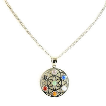 Circle of Life Chakra Energy Pendant Necklace for the Body, Mind, and Spirit