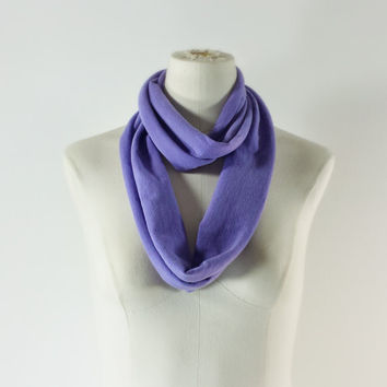 SKINNY SCARF - VIOLET Infinity Scarf - Lavender Scarf Necklace