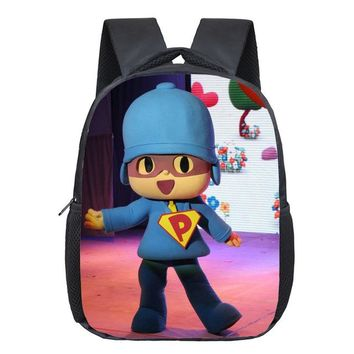 Toddler Backpack class 12 Inch POCOYO Elly Pato Loula Kindergarten Backpack Boys Girls Children School Bags Baby Toddler Bag Kids Best Gift Backpack AT_50_3