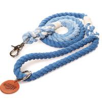 Royal Blue Ombré Rope Dog Leash