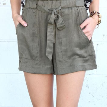 Beach Safari Shorts {Olive}