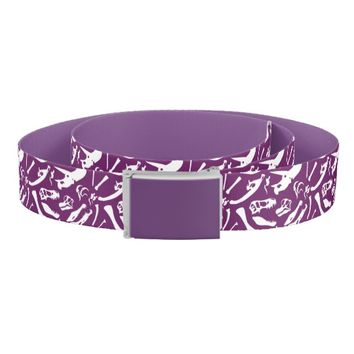 Dinosaur Bones (Purple) Belt