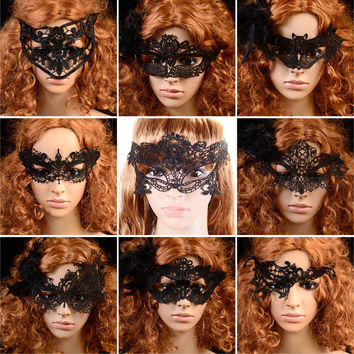 9 Style Lace Party Costume Eye Masks Women Eyewear Masquerad for Halloween