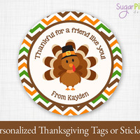 Thanksgiving Tag, Thanksgiving thank you tag, Thanksgiving Label, Thanksgiving Printable, Thanksgiving Sticker, WE PERSONALIZE 4 YOU