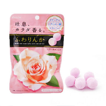 32g Japan Imported Candy Sweet Candy Food Chewing Gum Kracie Rose Sugar Fragrance Body Candy Oral Health Office Snack Gift