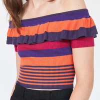 Kimchi Blue Riley Off-The-Shoulder Ruffle Top | Urban Outfitters