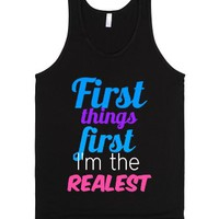 the realest-Unisex Black Tank