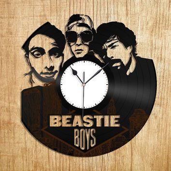Beastie Boys Rap Record Clock, Vintage Hip Hop Music Wall Decor, Recycled Gift Idea, Unique Decorations, Vinyl Album Clock, Vinyl Deco Art