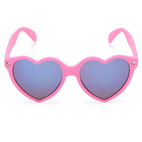 With Love From CA Rubberized Hearts Sunglasses at PacSun.com