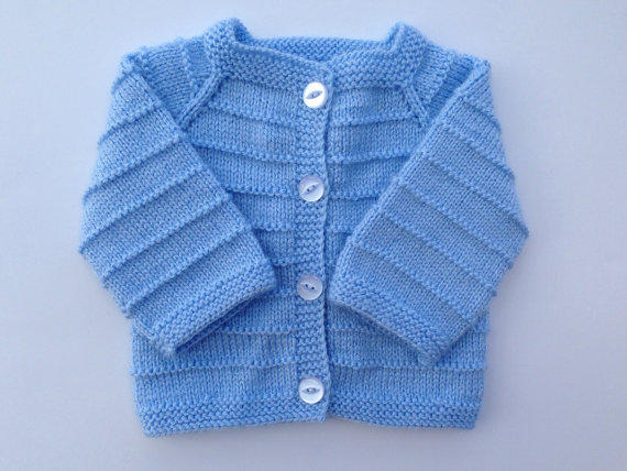 32b89fa03 Hand Knitted Baby Boy Cardigan - Sweater from olinnell on Etsy