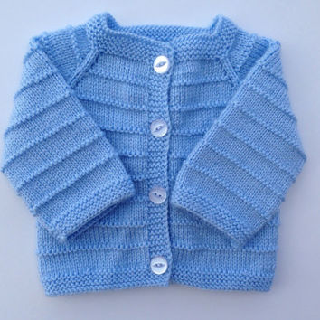 c32133998bdb Hand Knitted Baby Boy Cardigan - Sweater from olinnell on Etsy