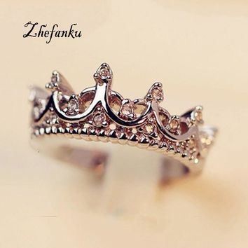 * Queen's Crown Rings For Women