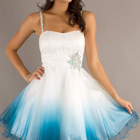 Short Spaghetti Strap Prom Dress by Dave and Johnny