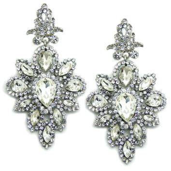 Arabesque Earrings in Silver