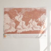 Rose Gold Scratch-Off World Map | Urban Outfitters