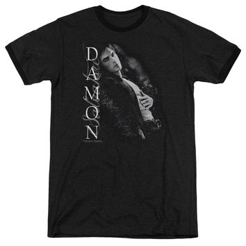 Vampire Diaries Besides Me Black Ringer T-Shirt