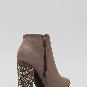 Background Scenery Jeweled Booties
