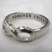 Same Day Shipping Infinity Ring, Best Friends ring, Infinity Sister, BFF, Best Friends, Sisters Infinity ring, Forever Friends Ring,