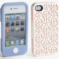 Tech Candy Bordeaux Jet Set Collection 3 Piece iPhone 4 4S Hard Soft Case (White/Lavender/Pink)