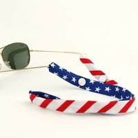 Limited Edition Land of the Free Sunglass Straps by CottonSnaps