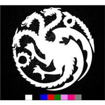 Game of Thrones House Targaryen Sigil Vinyl Sticker Decal HBO Logo Car Truck Mac