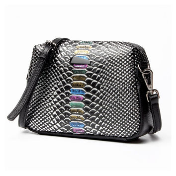 Rivet Serpentine Messenger Shoulder Bag