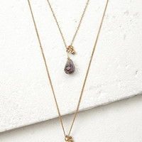 Layered Faux Stone Necklace
