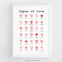Types of Love - Art print