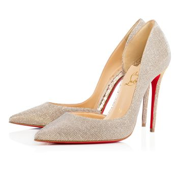 Iriza 100 Silver/Gold Glittex - Women Shoes - Christian Louboutin