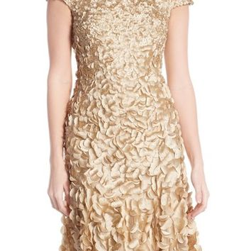 Theia Petal Appliqué Fit & Flare Dress | Nordstrom
