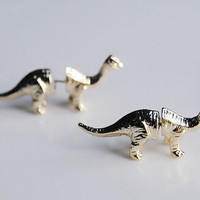 Brontosaur, Dinosaur  Pair of Earrings. Vintage, Retro Stud Earrings. Fast Shipping from USA.