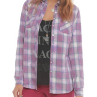 Lavender Plaid Top