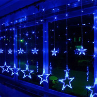 AC220V-240V 138-LEDS Strobe Light Christmas Stars Style Decorative String Light for Christmas Partys Wedding New Year Decorations etc = 1932575044