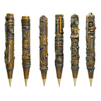 Industrial Steampunk Sculptural Ink Transport Pens