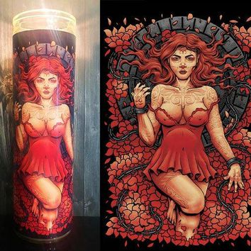 Sugar Skull Decor, Santa Muerte, Day of the Dead, Sugar Skull, Prayer Candle, Gift Idea, Gifts for Him, Gifts for Her, Best Scented Candles