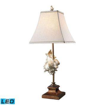 Delray LED Table Lamp In Conch Shell And Bronze Conch Shell,Bronze