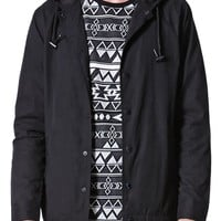 Modern Amusement Hooded Coach Jacket - Mens Jacket - Black