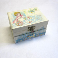 Mele Little Girl Kittens Jewelry Box with Drawer Trinket Gift Box