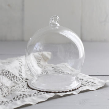 DIY Snow Globe Ornament - Clear Glass Ball with Base