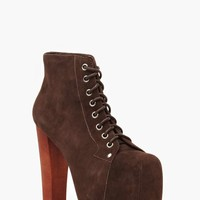 Jeffrey Campbell Lita Platform Boot - Brown Suede