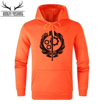Brotherhood of Steel logo Casual Apparel Men Hoodies Sweatshirts Outerwear Hoody Classic Gaming Video Game Fallout Pullover W64