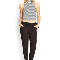 FOREVER 21 Slouchy Zip-Cuff Trousers