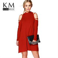 Kissmilk Plus Size Cold Shoulder Dress