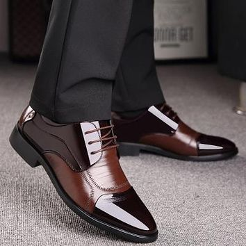 High Quality Genuine Leather Business Shoe with Zip