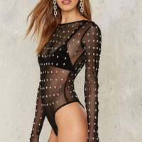 Nasty Gal Collection Le Chat Noir Mesh Bodysuit