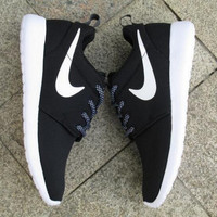 """""""NIKE"""" Trending Fashion Casual Sports Shoes Black(front small white hook)"""